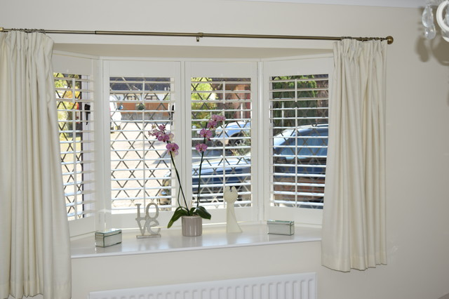 How To Dress A Bay Window With Shutters Shabby Chic Style