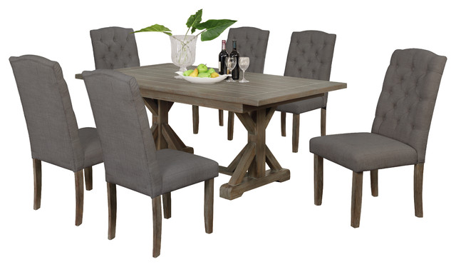 7 Piece Dining Set Transitional Dining Sets By All In One Furniture