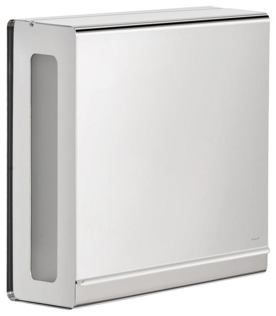 blomus nexio paper towel dispenser, polished - modern - paper