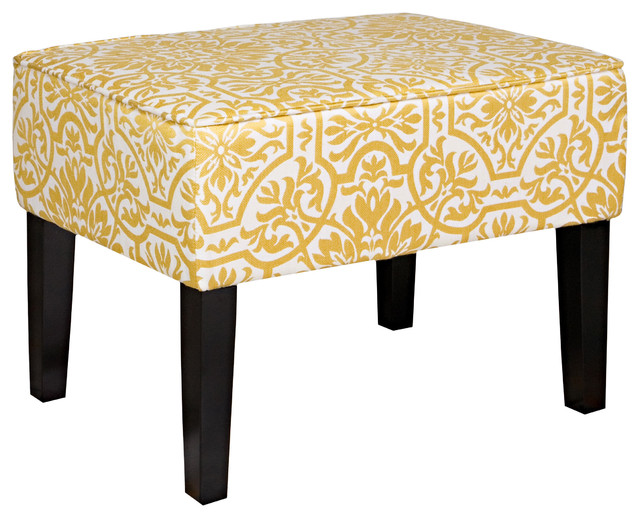 Angelo Home Brighton Hill Modern Damask Golden Yellow And