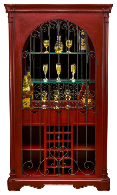 Taos Bar Cabinet - Contemporary - Wine And Bar Cabinets - by Trendily Home Collection