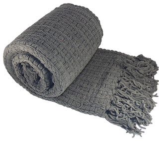 Space Yarn Knitted Throw - Transitional - Throws - by BNF Home