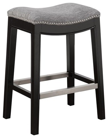 Belfast Saddle Counter Stool Gray Bar Stools And