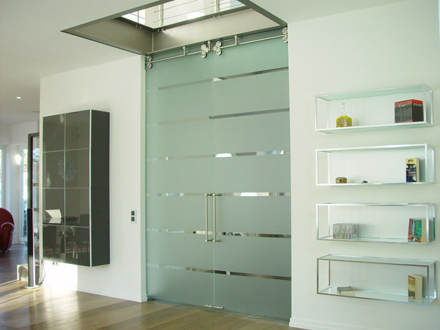 modern barn door full glass sliding doors twin entry