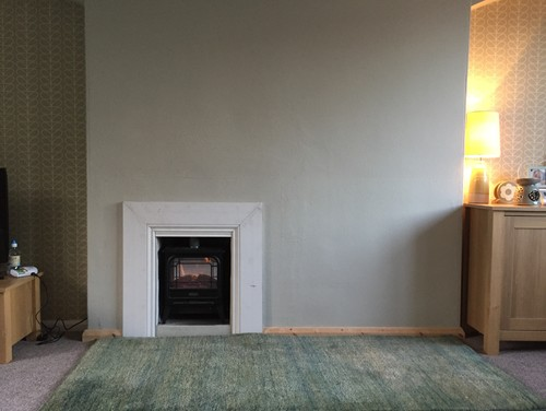 What Would You Do With This Off Centre Fireplace