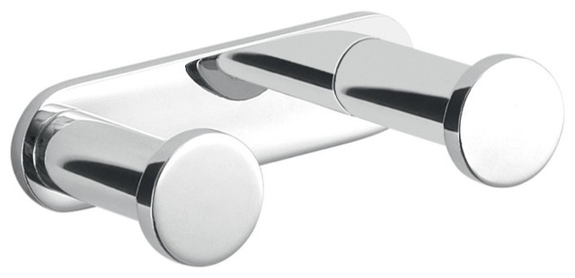 Round Polished Chrome Br Double Bathroom Hook