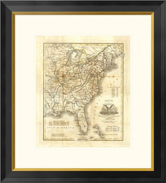 Map Of The United States, 1845, 23
