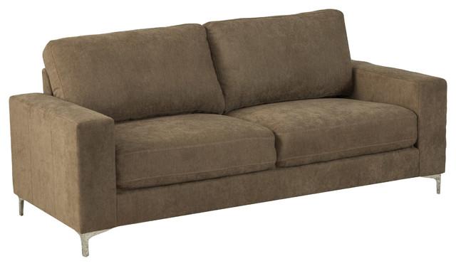 CorLiving Cory Chenille Fabric Sofa, Brown