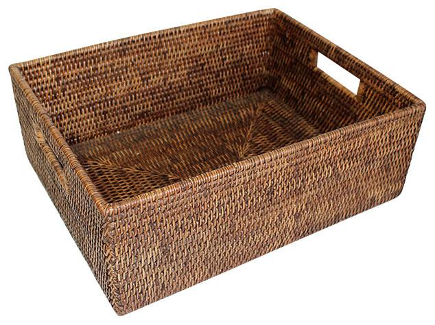 Matahari Rattan Shelf Basket 15 5 L Reviews Houzz