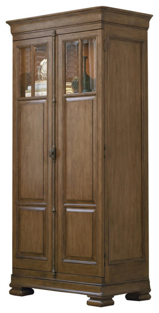 Louis Philippe Solid Wood Tall 2 Door Armoire Cabinet - Traditional - Armoires And Wardrobes ...