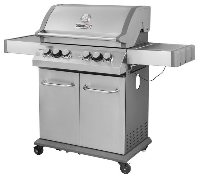 4-Burner Propane Gas Grill With Infrared Burner and Side ...