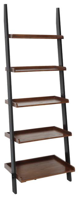 American Heritage Bookshelf Ladder, Dark Walnut/Black