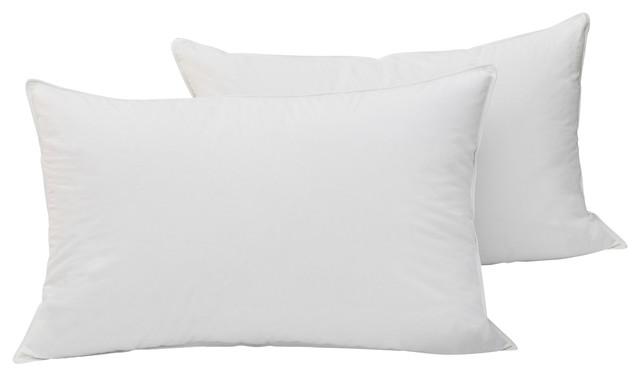 Cotton White Down Pillow Twin Pack, King, Medium Density