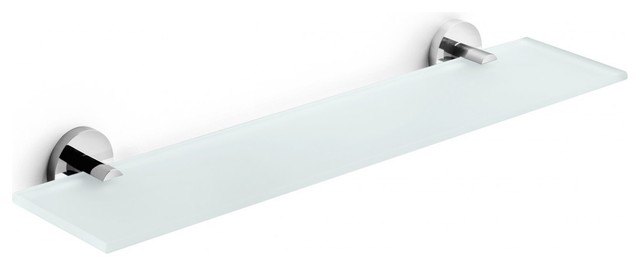Duemila Self-Adhesive Frosted Glass Bathroom Shelf - Contemporary ...