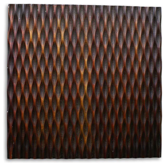 Screen Gems Metallic Ridge Brown Wall Art Sgwa-84.
