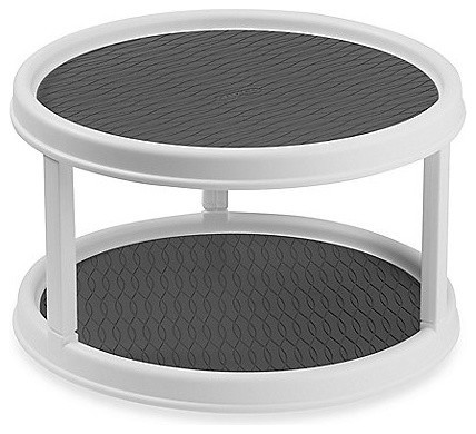 """2-Tier 12"""" Turntable - Contemporary - Pantry And Cabinet Organizers - by MoreStorage Inc"""