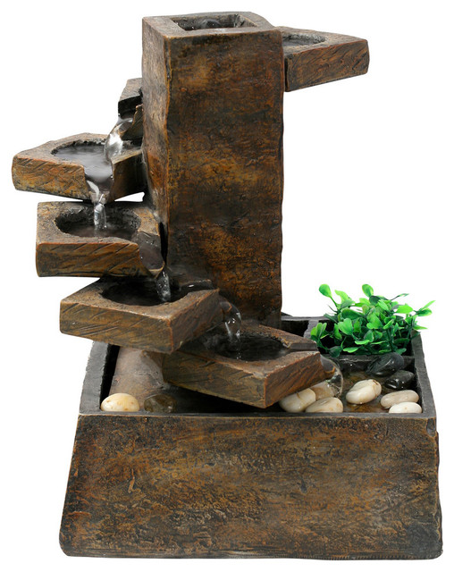 Eternity Tabletop Fountain, Step Stone Rustic Indoor Fountains