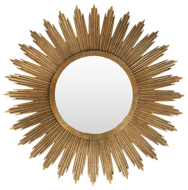 "Surya Wall Decor 47"" Square Mirror By, Aged Gold, Mrr1006-4747. -1"