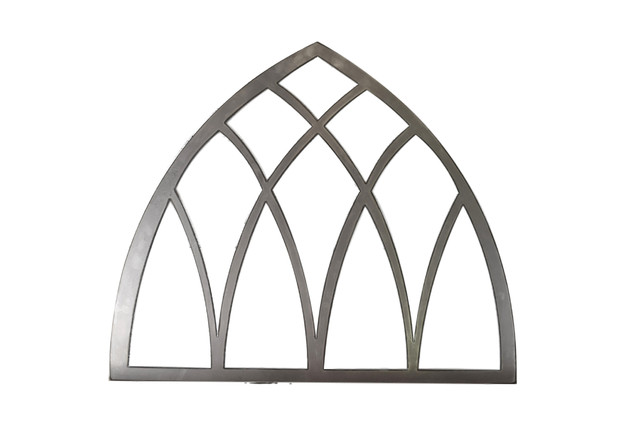 Metal Vintage Inspired Arched Window Wall Decor