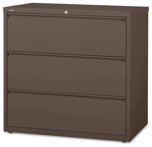 Lorell Medium Tone Lateral File Cabinet - Contemporary - Filing Cabinets - by Alliance Supply