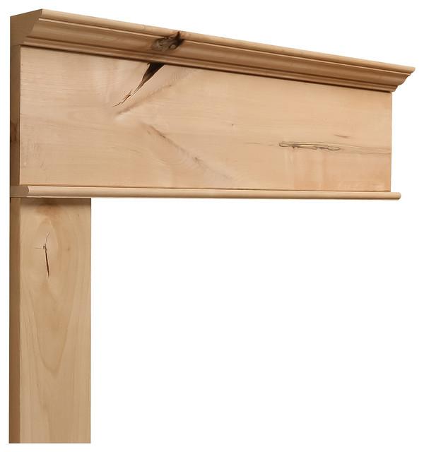 Rustic Craftsman Interior Closet Door (Square Top Rail, 6 ... |Knotty Alder Door Trim