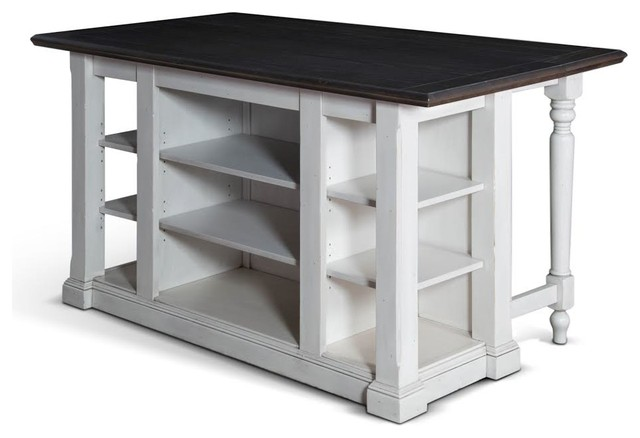 Bourbon Country Kitchen Island With Drop Leaf Traditional Kitchen Islands And Kitchen