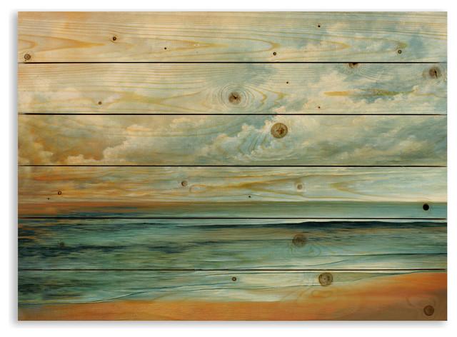 Painterly Beachscape 30x21 Pallet Wood Art.