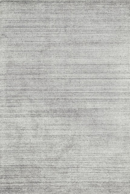Viscose & Wool Barkley Hand Loomed Area Rug by Loloi, Silver, 12'x15'