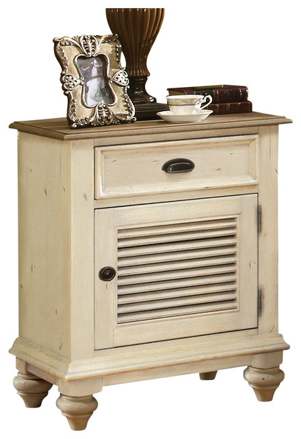 Riverside Furniture Coventry Two Tone Nightstand In Dover White  Nightstands And Bedside Tables