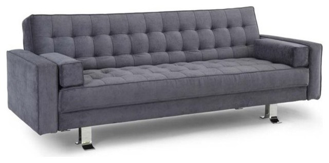 Lifestyle Solutions Nashville Convertible Sofa Charcoal Gray