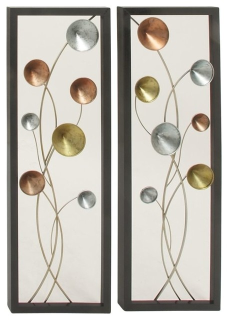 Metal Wall Decor For Bedroom : Appealing metal wall decors piece set contemporary