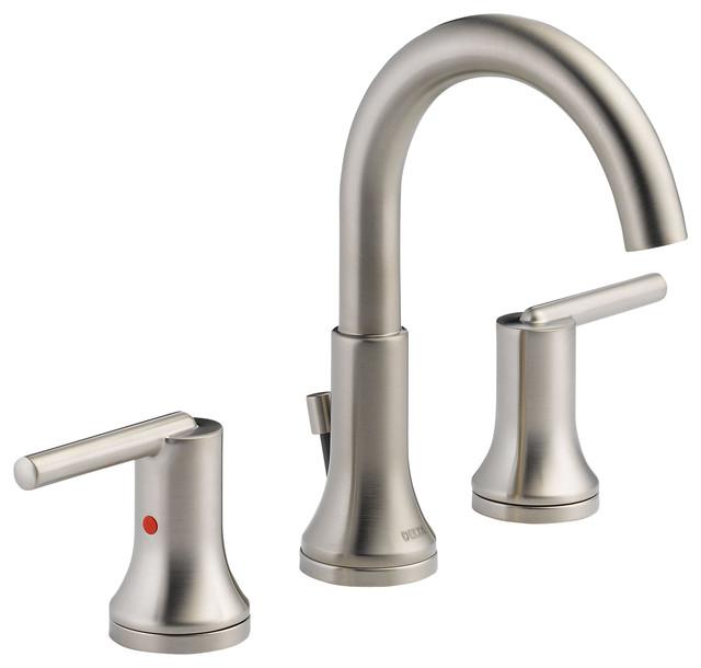 Delta Widespread Bath Faucet W Metal Pop Up 3559 Ssmpu Dst Bathroom Sink Faucets By