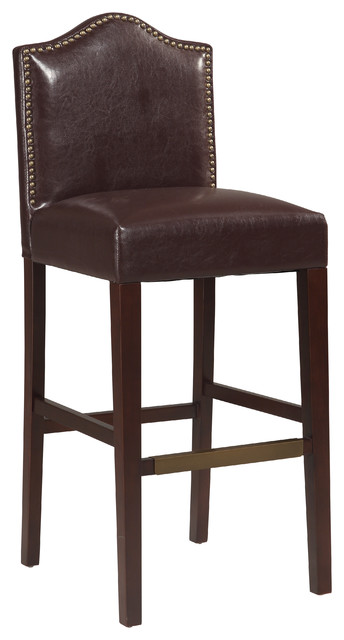 Linon Home Decor Products Manor Counter Stool Blackberry