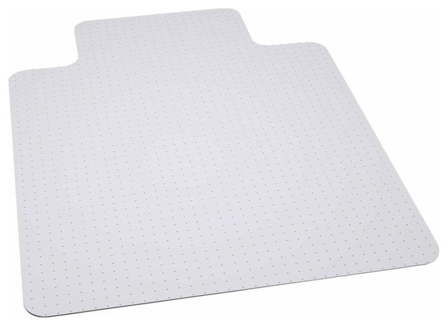 45''x53'' Big and Tall 400 lbs. Capacity Carpet Chair Mat With Lip