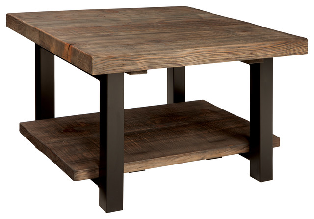 Bolton Furniture, Inc.   Pomona Cube Coffee Table, Rustic Natural   Coffee  Tables
