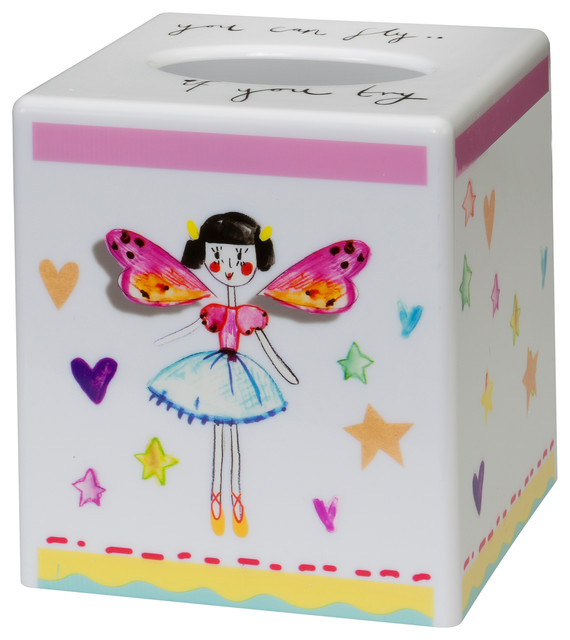 Elegant Faerie Princess Tissue Box Cover Eclectic Kids Bathroom Accessories