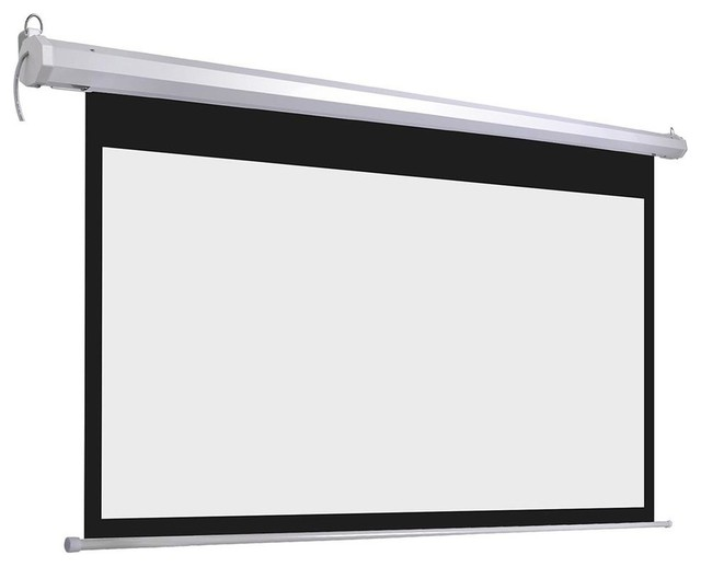 """100/"""" 16:9 HD Electric Motorized Projector Screen Projection w// Remote Control US"""