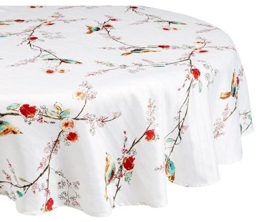 Lenox Chirp Print Spill Proof 52 X70 Oblong Tablecloth