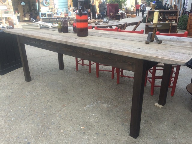 Fabricate a Large Dining Table Using Vintage, Reconstituted Wood