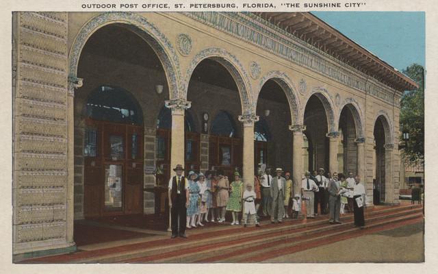 Quot St Petersburg Fl Exterior View Of Post Office Quot Print