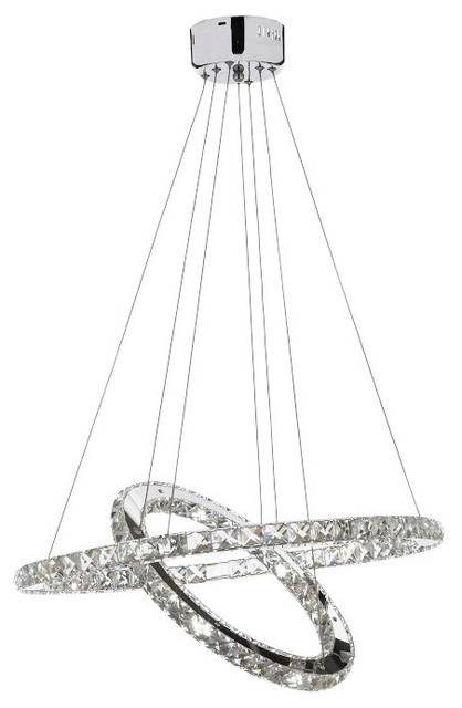 Crystal Elipse Ring Chandelier Led Modern Contemporary Lighting