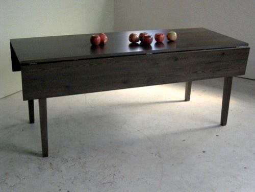 black wash drop leaf farm table. Black Bedroom Furniture Sets. Home Design Ideas