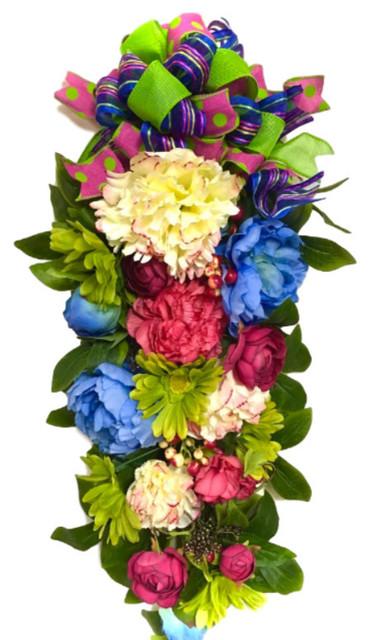 26 spring summer teardrop swag wreath silk floral decor 26 spring summer teardrop swag wreath silk floral decor mightylinksfo