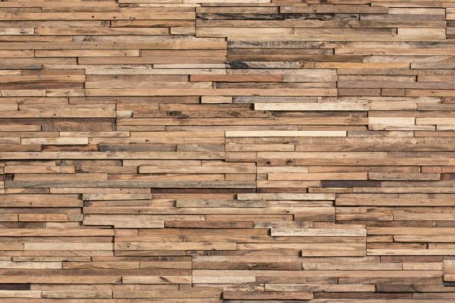Reclaimed Wood Tiles, Wonderwall Studios, Parker - Rustic - Wall ...