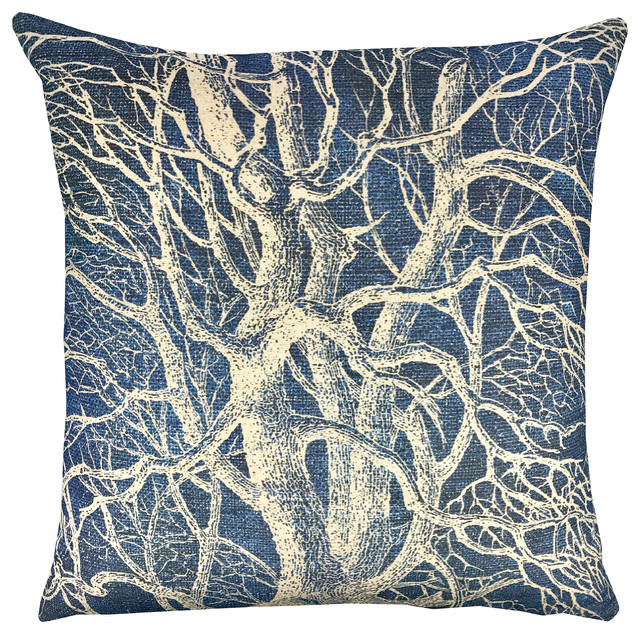 Tree Shibori Pillow.