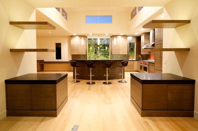 Dream kitchen modern zen bamboo and stone modern for Modern zen kitchen