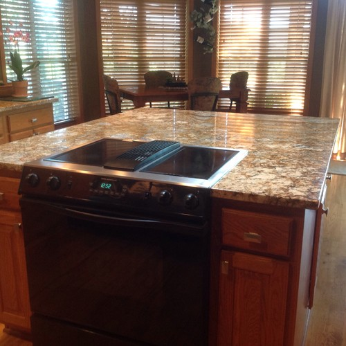 Kitchen Island With Slide In Stove replacing slide-in range with downdraft in kitchen island
