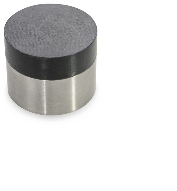 Modern 304 Stainless Steel Cylindrical Wall Mounted Door Stop, Satin  Stainless Contemporary Door