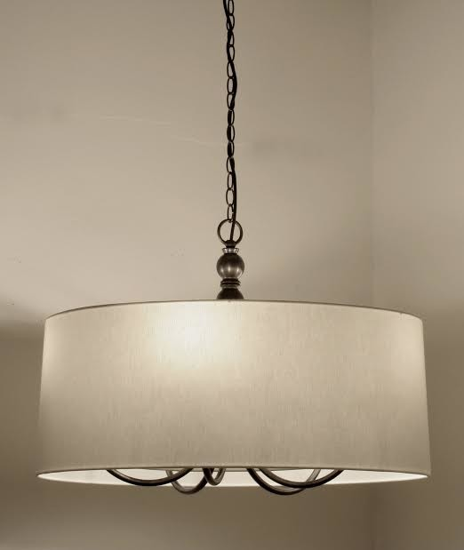 Large 5 Light Pendant In Aged