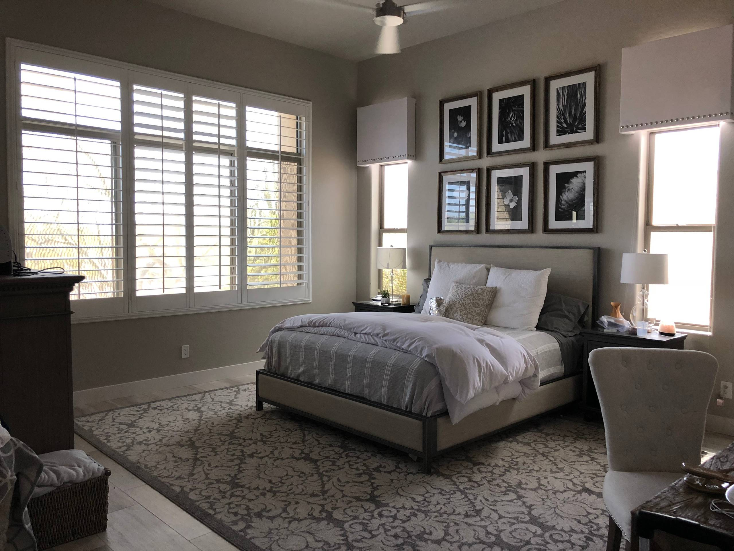 Upscale master bedroom makeover